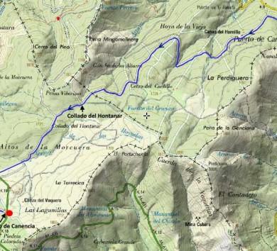 ruta-pinares-canencia-mapa