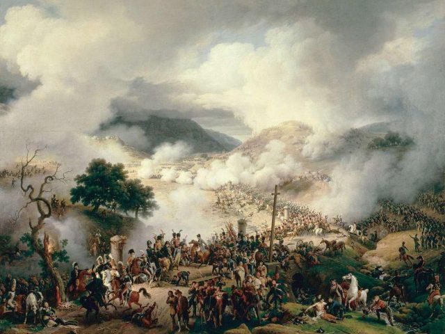 """""""Bataille du col de Somo Sierra en Castille, le 30 novembre 1808"""", Louis-François Lejeune"""