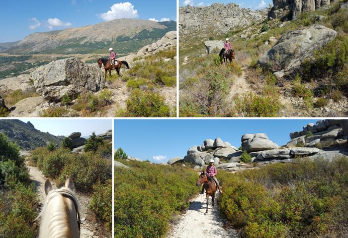 horseback riding route in the Sierra de la Cabrera