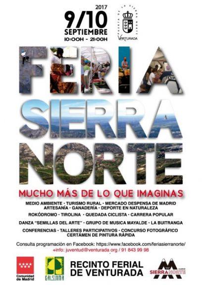 Feria Sierra Norte Madrid (Venturada 9-10 septiembre)